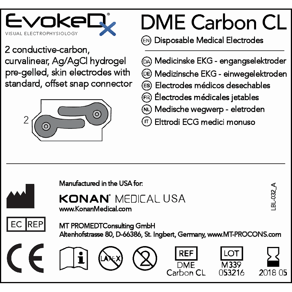DME Carbon CL & R Electrode Sample 5 Pack